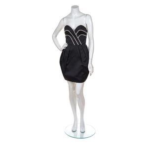 🌟VINTAGE🌟 Lanvin 1980's Strapless Cocktail Dress